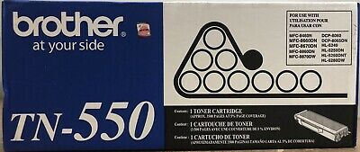 Original SEALED Brother TN550 Toner New OEM Genuine 012502614494