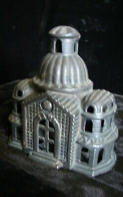 c1890-1910 Williams Cast Iron Mosque Domed Bank Building Still Coin Bank rare