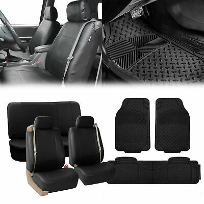 PREMIUM FRONT SEAT Covers for Car Truck SUV with integrated