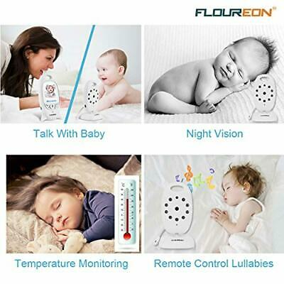 FLOUREON Wireless 2.4 GHz Baby Monitor Digital Video Nanny Security Camera. Ka