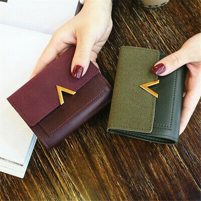 1pc Women Wallet Coin Bag Leather Lady Simple Bifold Short Small Handbag Purse