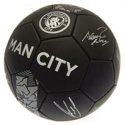 Manchester City Man Fc Football Size 5 Ball Printed Signatures Signed PH