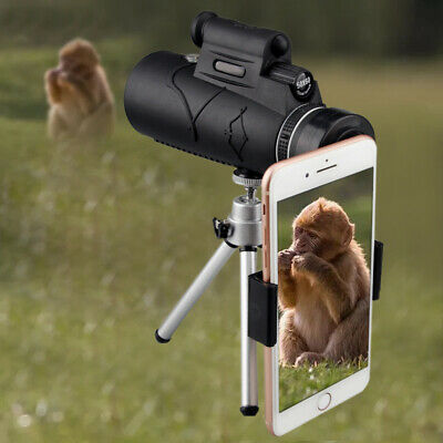 Portable 50X60 HD Optical Monocular Telescope & Tripod Support & Cell Phone Clip