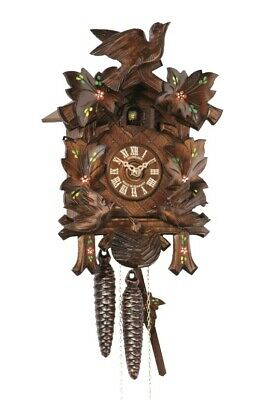 Cuckoo Clock Four Leaves, feeding Birds, Nest SC 96/10 NEW