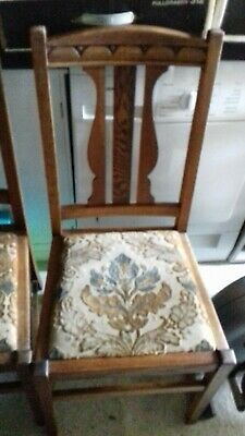 Furniture - Four Antique chairs need restoration retro old