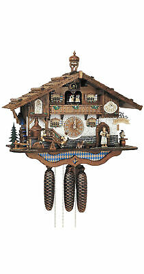 Cuckoo Clock Bavarian house with moving beer drinkers and m.. SC 8TMT 3413/9 NEW