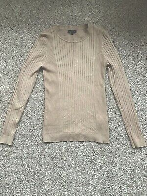 New Look Maternity Camel Ribbed Jumper Size 12