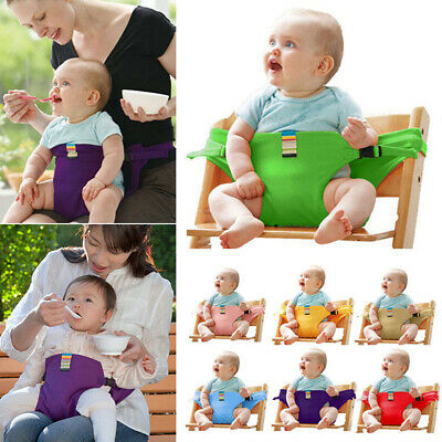 Baby High Chair Seat Harness Dining Belt Portable Safety Feeding Strap 8 Colors