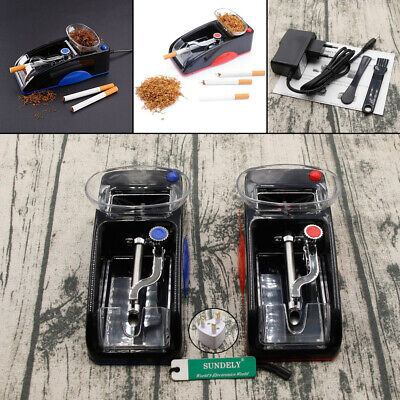 UK DIY Electric Automatic Cigarette Roll Machine Tobacco Injector Make Roller