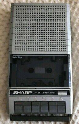 Sharp Portable Cassette Tape Recorder RD-620AS with box and cable