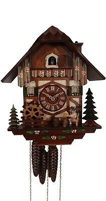 Cuckoo Clock Black Forest house with moving beer drinker and m.. 3.0501.01.C NEW