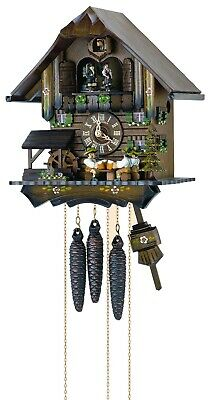 Cuckoo Clock Black Forest house with 4 moving beer drinkers .. SC MT 4407/10 NEW