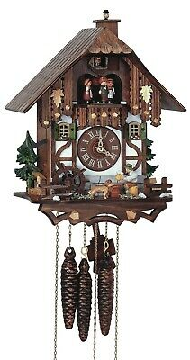 Cuckoo Clock Black Forest house with moving beer drinker and .. SC MT 6564/9 NEW
