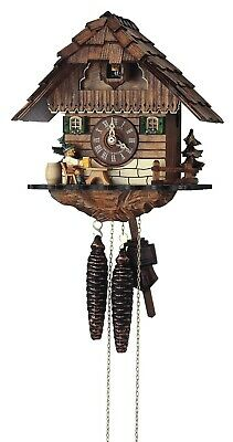 Cuckoo Clock Black Forest house with moving beer drinker SC 1104/9 NEW