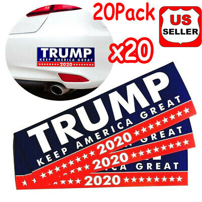 20 Pack Donald Trump Bumper Sticker 2020 Keep America Great |USA