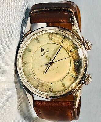 Rare Vintage Mens Jaeger le Coultre Memovox Mechanical K 814 Alarm Works! $2000