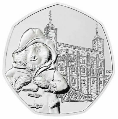 2019 Uk Paddington Bear At The Tower Of London Uncirculated Coin 50P Fifty Pence