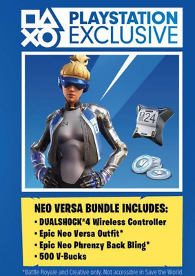 PS4 Exclusive Fortnite - Epic Neo Versa Outfit + 500 V-Bucks