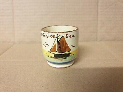 Egg Cup Fresh From The Nest Clacton on Sea Torquay Motto ware