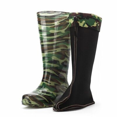 Men's Waterproof Camouflage Rain Boots Durable Warm Protection Three Colors Gift