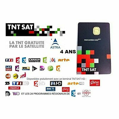 Brand New 4 Year TNTSat French Viewing Card TNT Sat