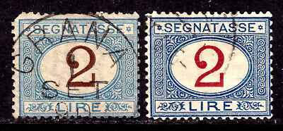 Italy Postage Due #J15-16 2L, 1870-1903 Set/2, Vg, Cds