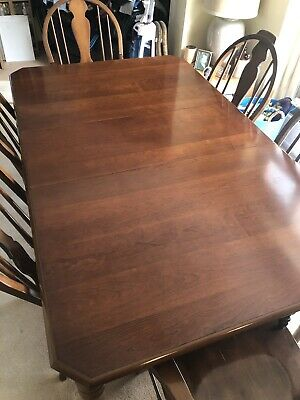 Antique Cherry Dining Table And Chairs