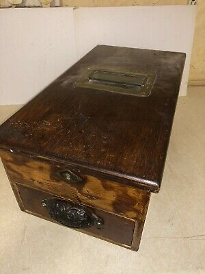 Vintage Antique Wooden Shop Cash Till / Register