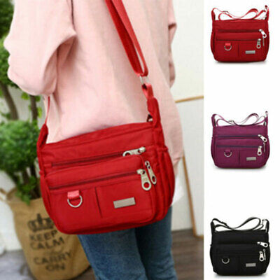 Large Women Ladies Multi Pocket Messenger Handbag Cross Body Bags Shoulder Bag