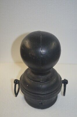 Antique Round Cast Iron Ball Hitching Post Finial Cap