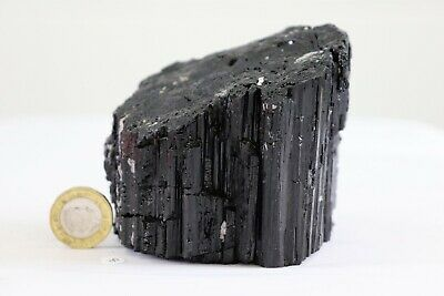 8) Extra Large Black Tourmaline Crystal Raw Natural Mineral 821g
