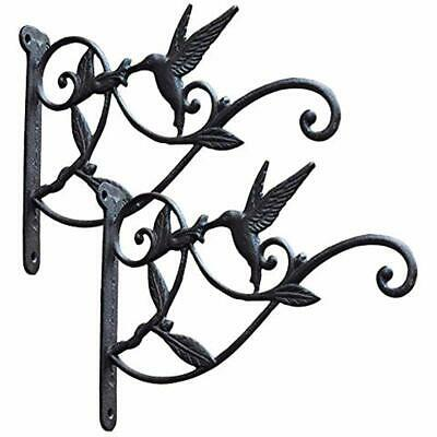 Wall Hanging Bracket Vintage Cast Iron Plant Hooks 2 Pack Lanterns Outdoor Deco