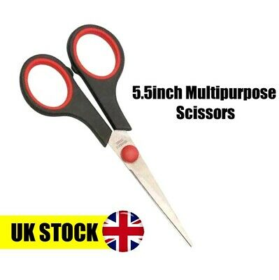"""5.5"""" Stainless Steel Multipurpose Craft Sewing Scissors Bulk Kitchen Embroidery"""