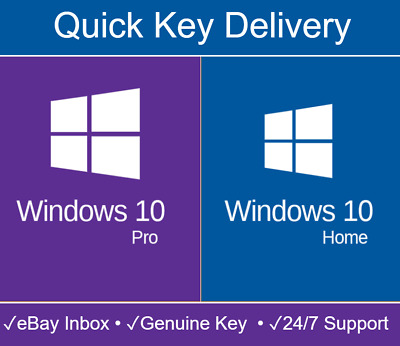 Windows 10 Home/Pro Activation Key 32/64 bit WIN PC genuine license code