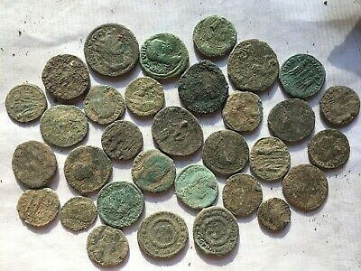 Nice anciente lot 32  Roman uncleaned coins