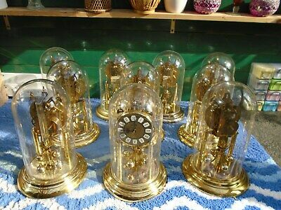 Vintage S Haller Anniversary ClocksX 10 Sold as seen in the photos COLLECT ONLY