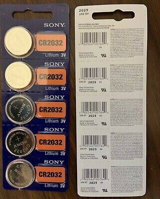 Sony CR2032 CR 2032 3V Button Coin Cell Battery x 5pcs Brand new Genuine EXP2029