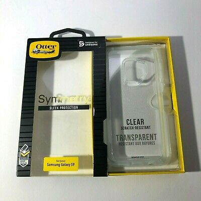OtterBox Symmetry Series Shockproof Snap Case Samsung Galaxy S9 Clear Cover New