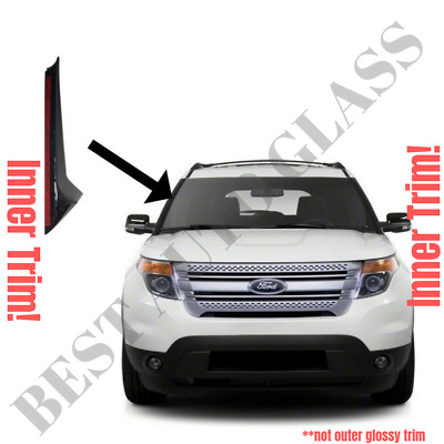 2011-19 Ford Explorer Windshield-Inner Trim Pillar Molding Passenger Right Side