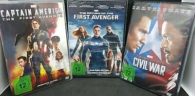 MARVEL The First Avenger  - Return - Civil War Captain America 1-3 ( DvD ) NEU