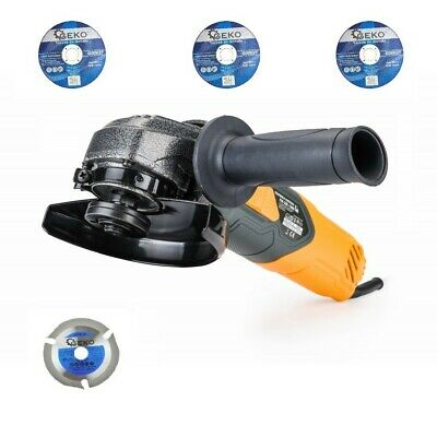 1200W ELECTRIC ANGLE GRINDER CUTTING GRINDING DISC 125mm +4x cutting discs