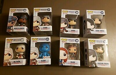 Funko Pop Assassin's Creed lot of 8 exclusive and vaulted Ezio Altair and more