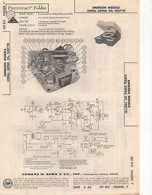 1966 Emerson 32P03 32P04 Record Player Changer Service Manual Photofact Repair