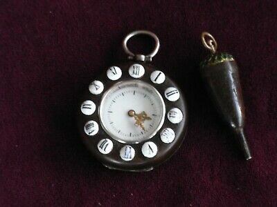 Rare Antique Ebony Cased French Pocket Watch Attributed To Charles Oudin Working