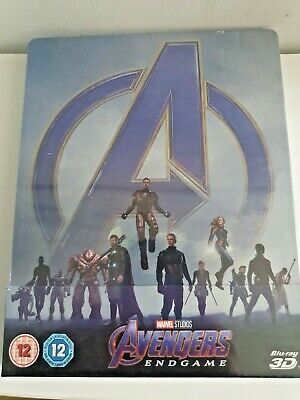 Avengers: Endgame 3D+2D Blu-Ray UK Limited Edition Exclusive Steelbook New&Seal+