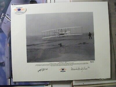 Wright Brother's Aero Museum Photo signed by two members of the Wright Family
