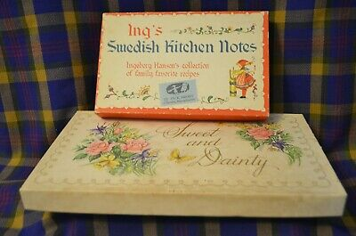Pair of Vintage Assorted Note Cards-Ing's Swedish Kitchen Notes&Sweet/Dainty