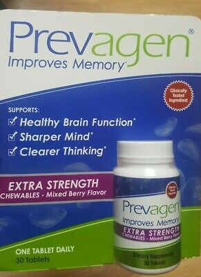 New Prevagen Extra Strength Improves Memory, Mixed Berry Chewables 30 Tabs