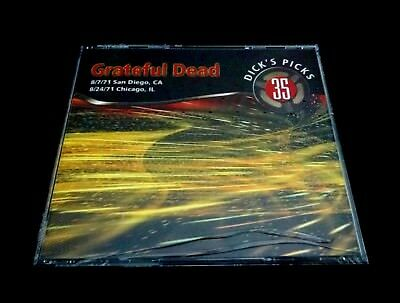 Grateful Dead Dick's Picks 35 Volume Thirty Five 8/7 & 24/1971 IL CA 4 CD 1st