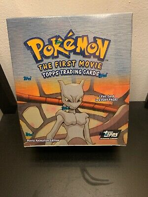 1999 Topps Pokemon The First Movie Booster Box - NEW 36 Sealed Packs Hobby